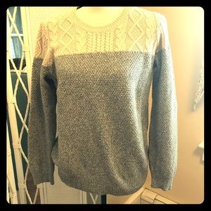 Madewell mixed stitch crew neck pullover